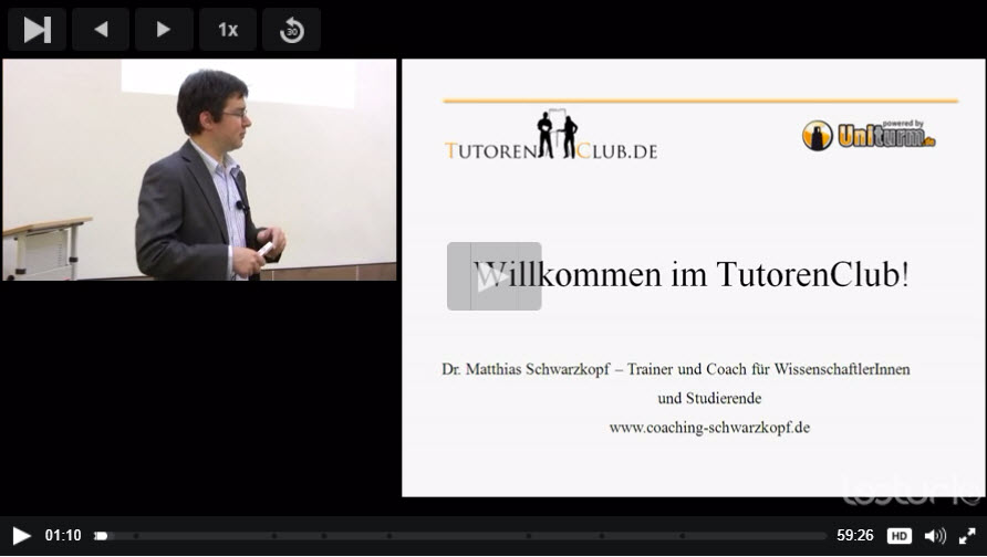 Screenshot Video Tutorenclub Schulung